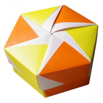 Caja hexagonal pequeña 8 x4.5 x 8 cm