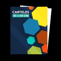 Carteles 35x50 a 1 o 2 colores