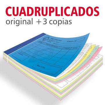 Talonarios Copiativos Cuadruplicados