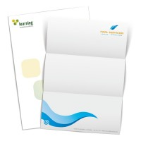 Papel de carta A4 impresos con logotipo a 2 colores