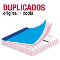 Talonarios copiativos duplicados 15x8.5 cm