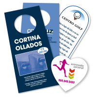 Flyers para colgar 10x21 cm a color