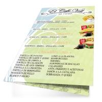 Cartas Restaurante A4 Plegadas