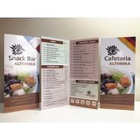 Cartas Restaurante A3 Plegadas
