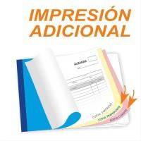 Impresiónes adicionales en producto