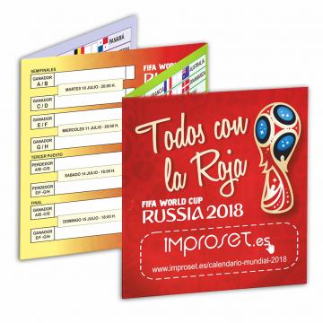 Calendario Bolsillo Mundial Russia 2018