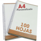 Libretas A4 de 100 hojas