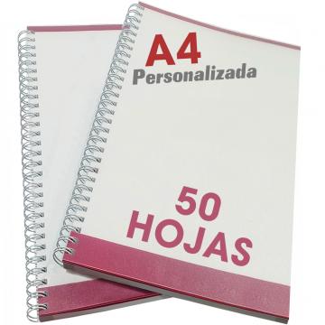 Libretas A4 de 50 hojas