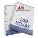 Libretas A5 de 100 hojas