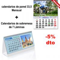 Calendarios de pared 33,5 y sobremesa de láminas