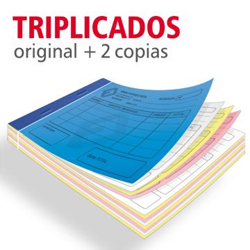 Talonarios triplicados