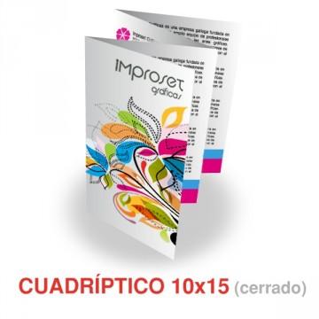 Cuadríptico 10x15 cm (cerrado)