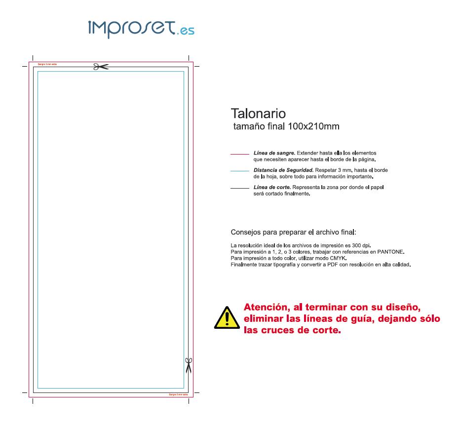 Imprenta online - Improset.es - Plantillas para sus productos